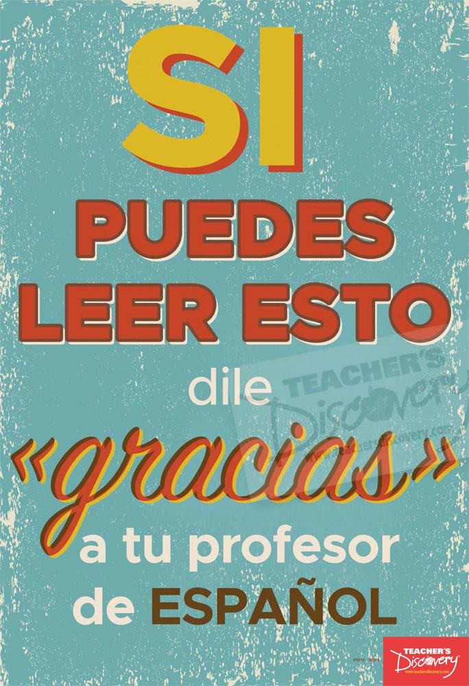 Thank Your Teacher Spanish Mini-Poster