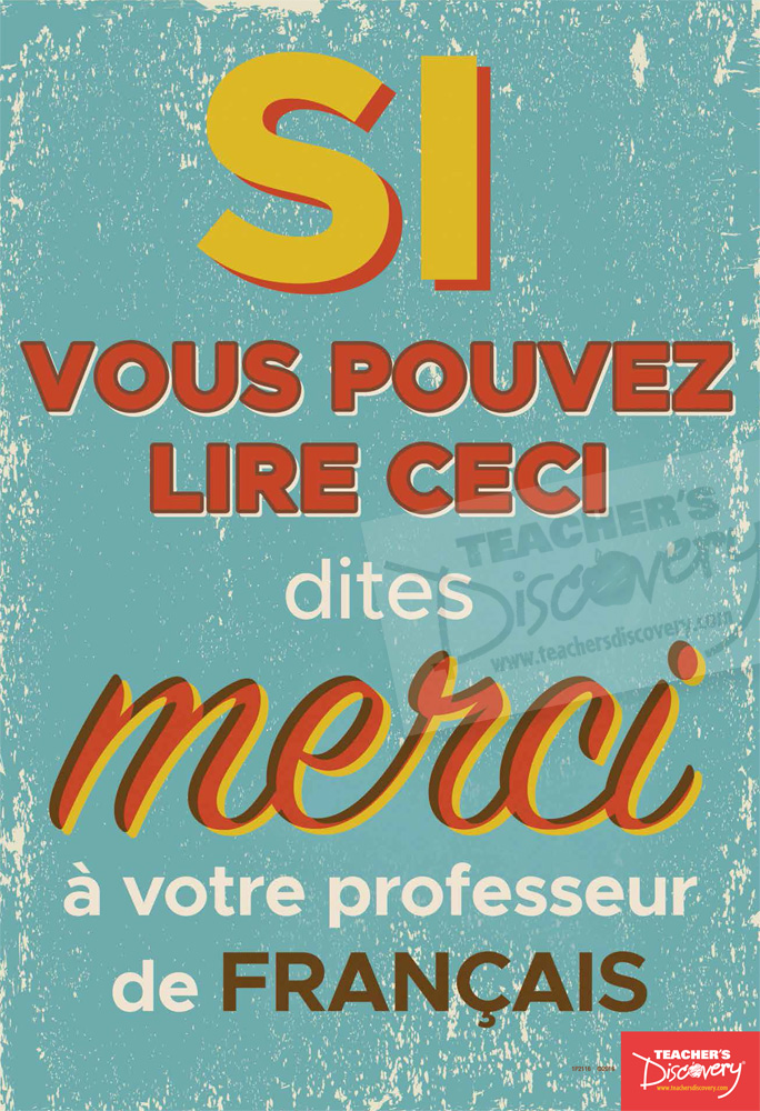 Thank Your Teacher French Mini-Poster