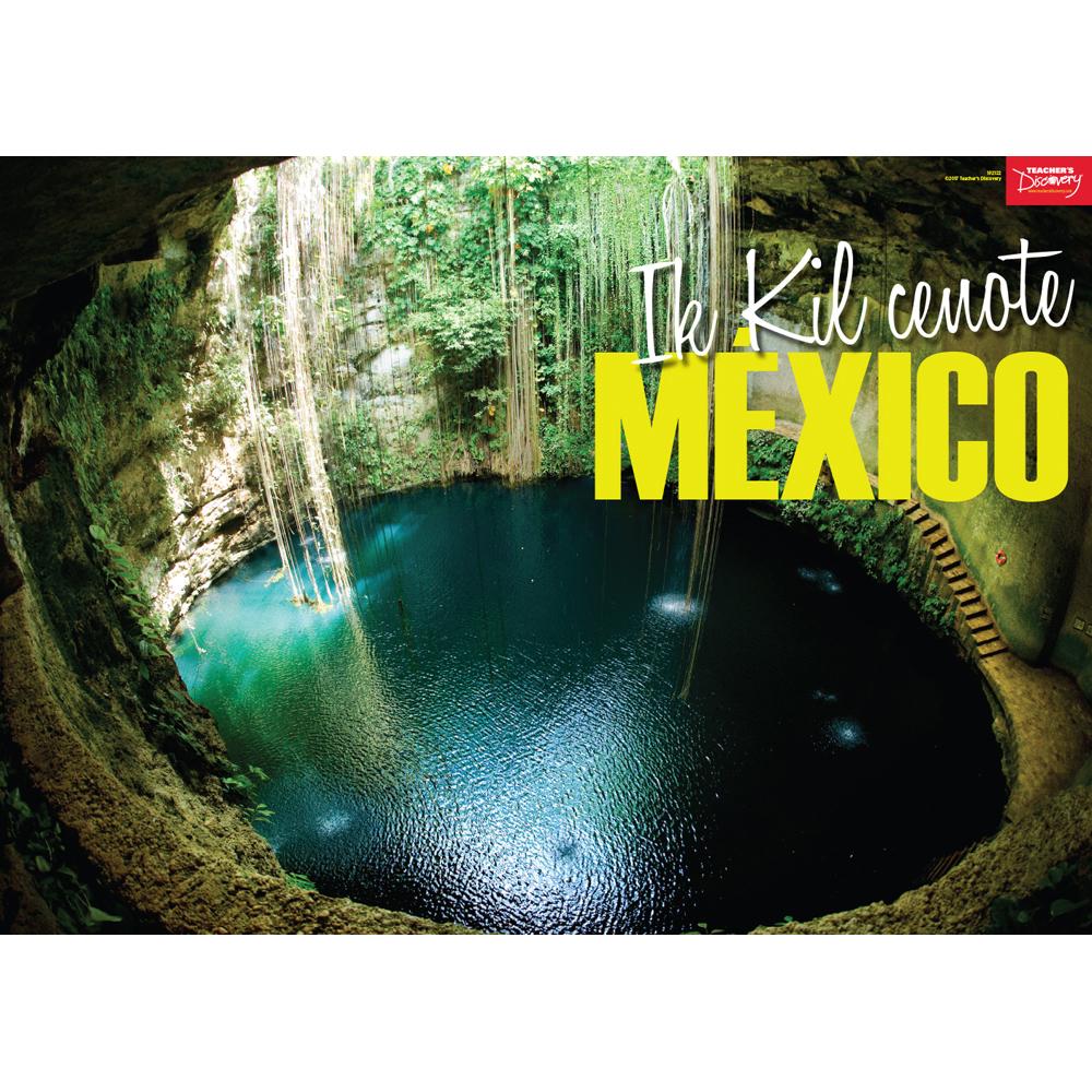 Ik Kil cenote, México Spanish Travel Poster