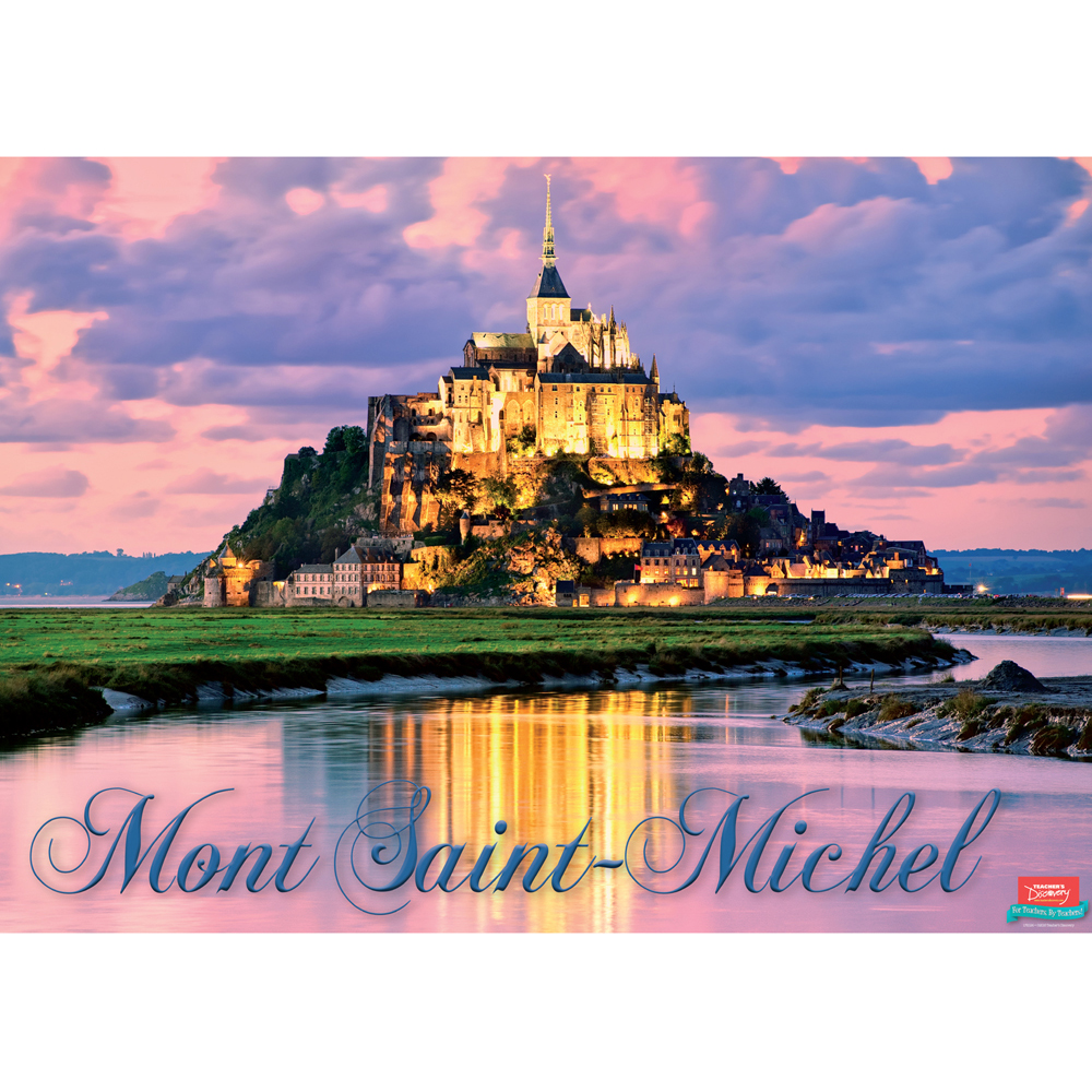 Mont Saint-Michel French Travel Poster