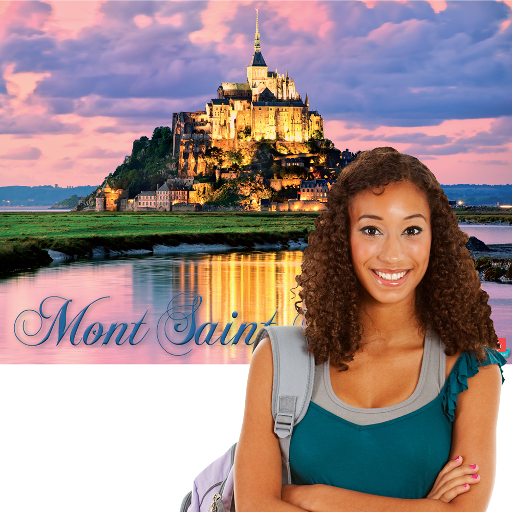 Mont St. Michel French Travel Poster