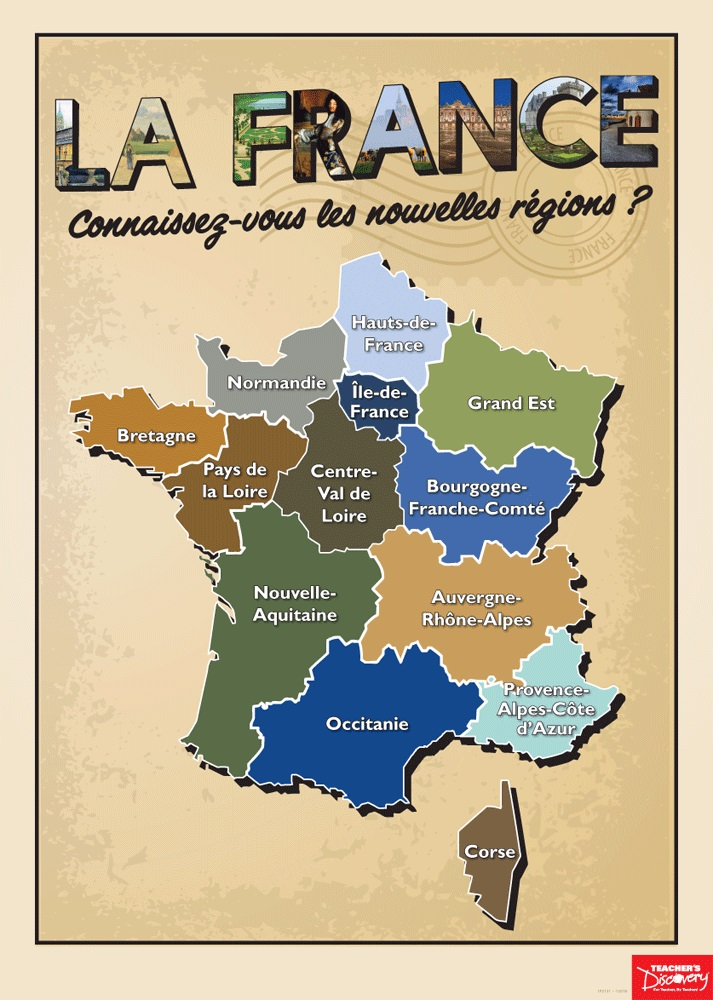 French Regions Poster