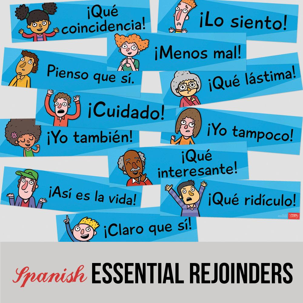 Essential Spanish Rejoinder Signs - Set of 12
