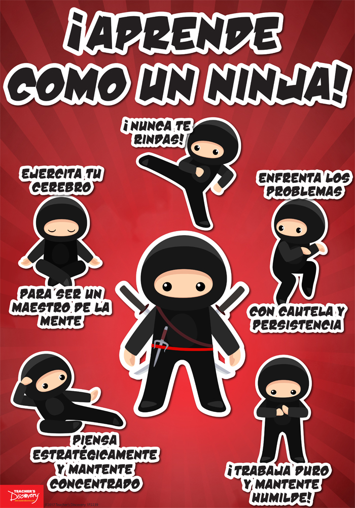 Learn Like a Ninja Spanish Mini-Poster
