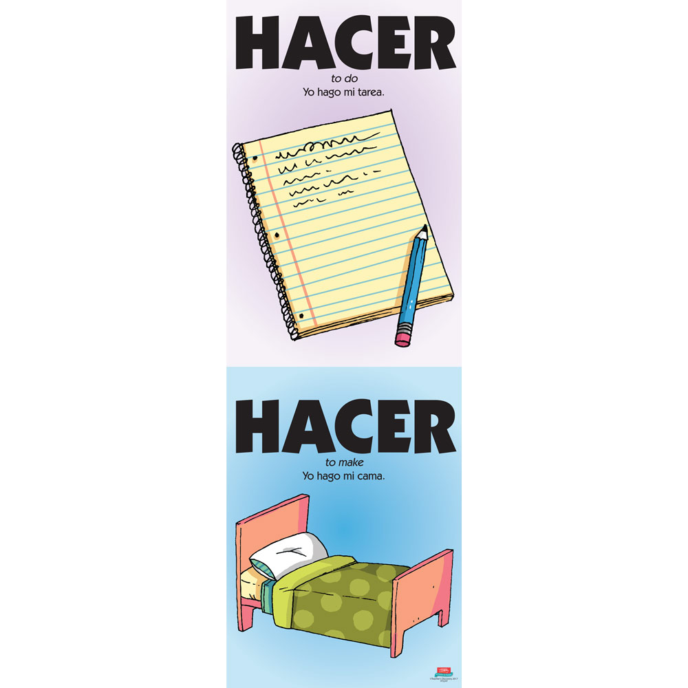 Vexing Verbs Hacer Spanish Poster