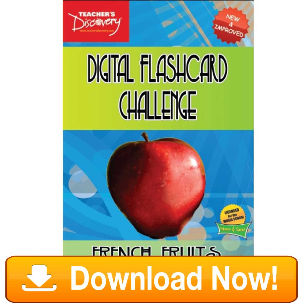 French Digital Flashcard Challenge Promethean Fruits Download