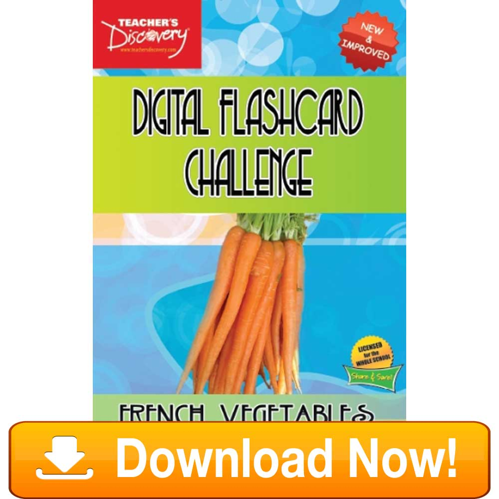 French Digital Flashcard Challenge Promethean Vegetables Download