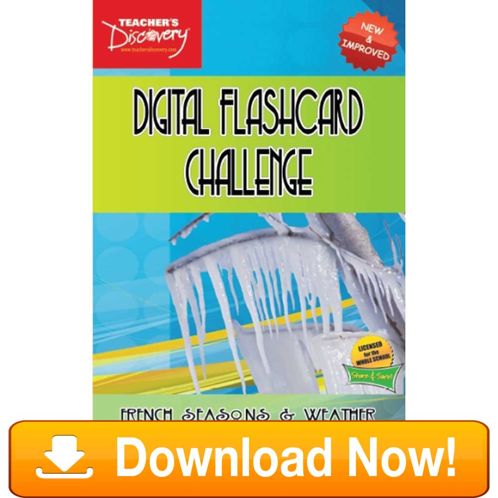 French Digital Flashcard Challenge Promethean Weather Download