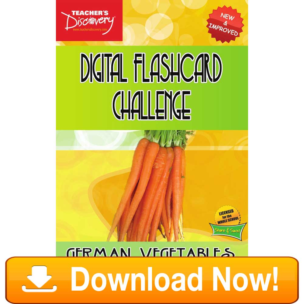 German Digital Flashcard Challenge Promethean Vegetables Download