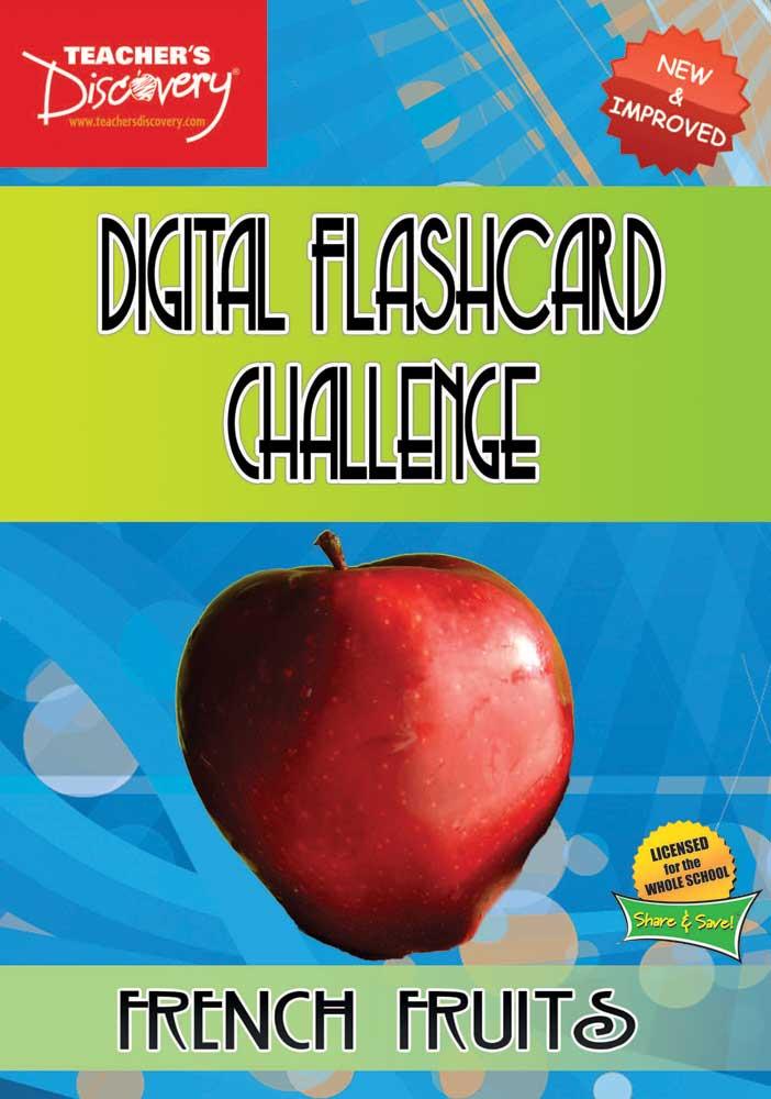 Digital Flashcard Challenge Games French Fruits