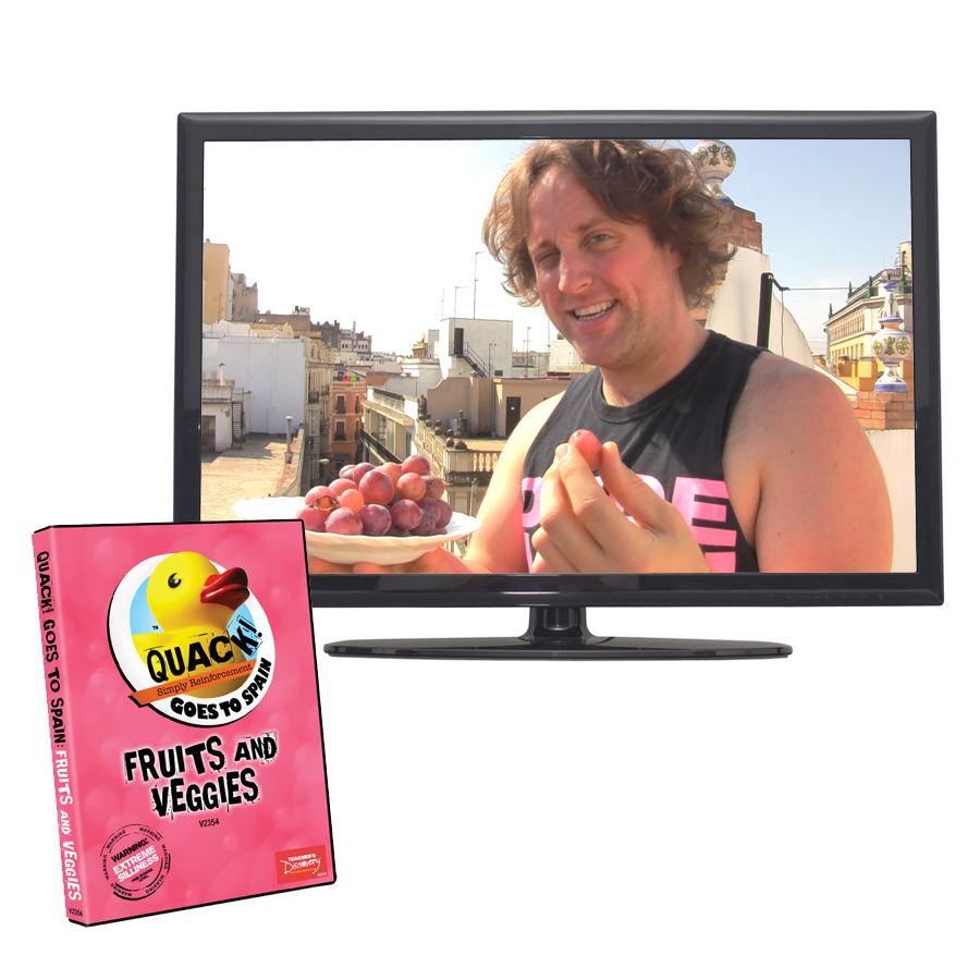 QUACK! Vocab Spain: Fruits and Veggies DVD