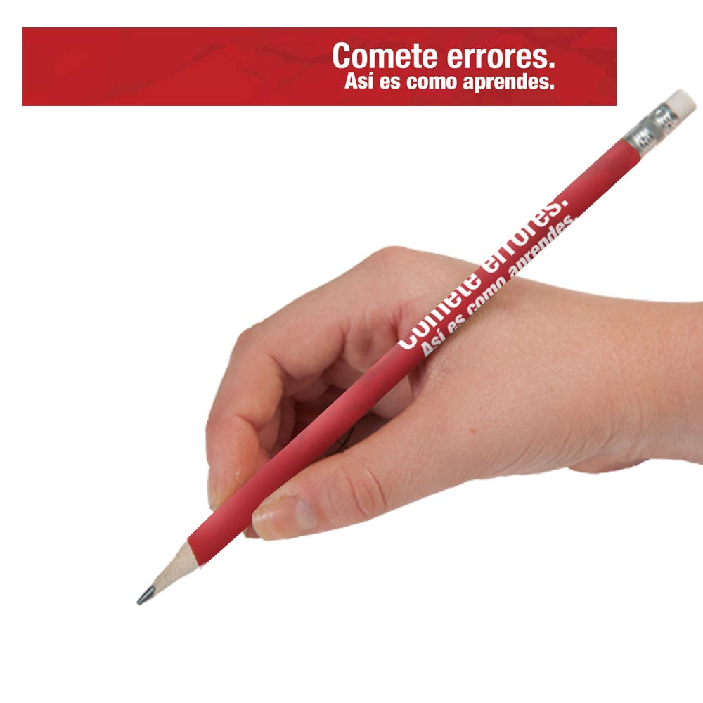 Make Mistakes Spanish Pencils - One Dozen (12)