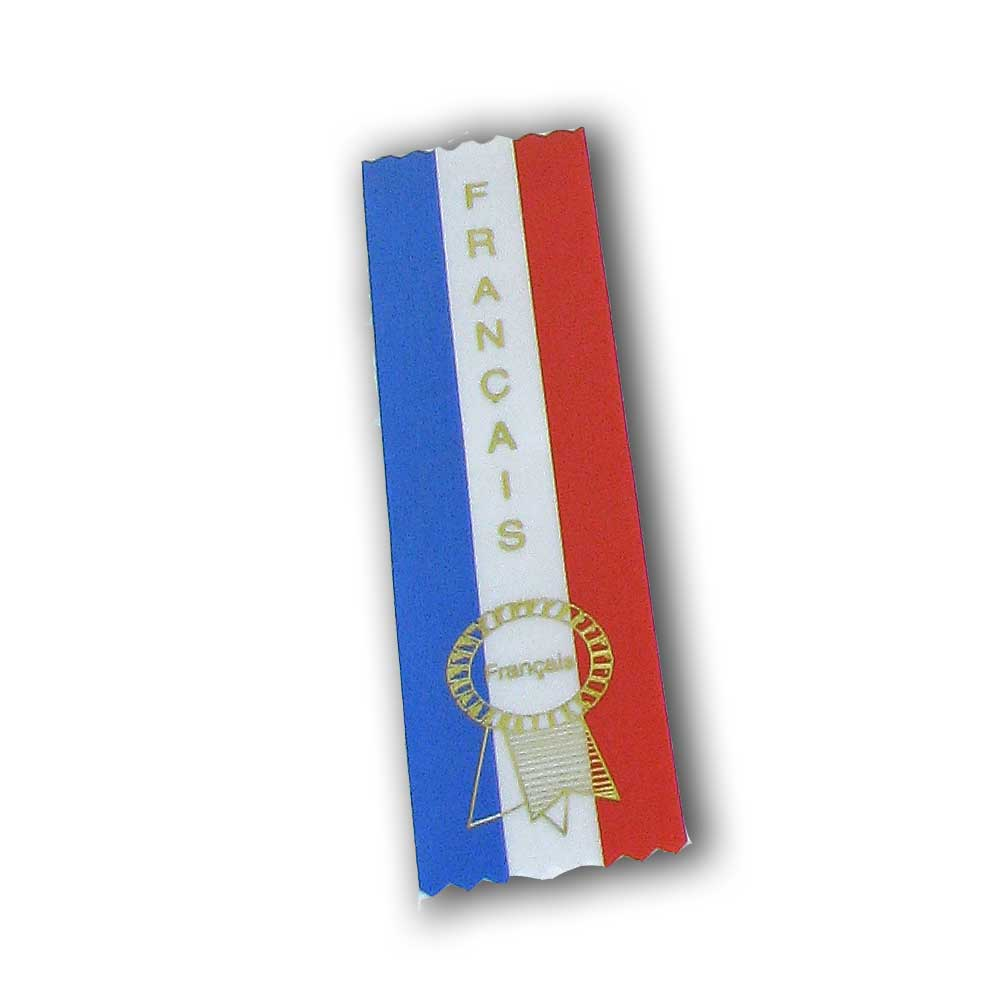 Français Ribbons (Blue, White and Red)