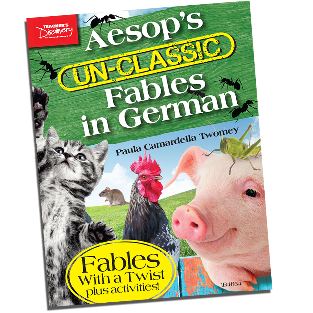 Aesop's Un-Classic Fables in German Present Tense Book