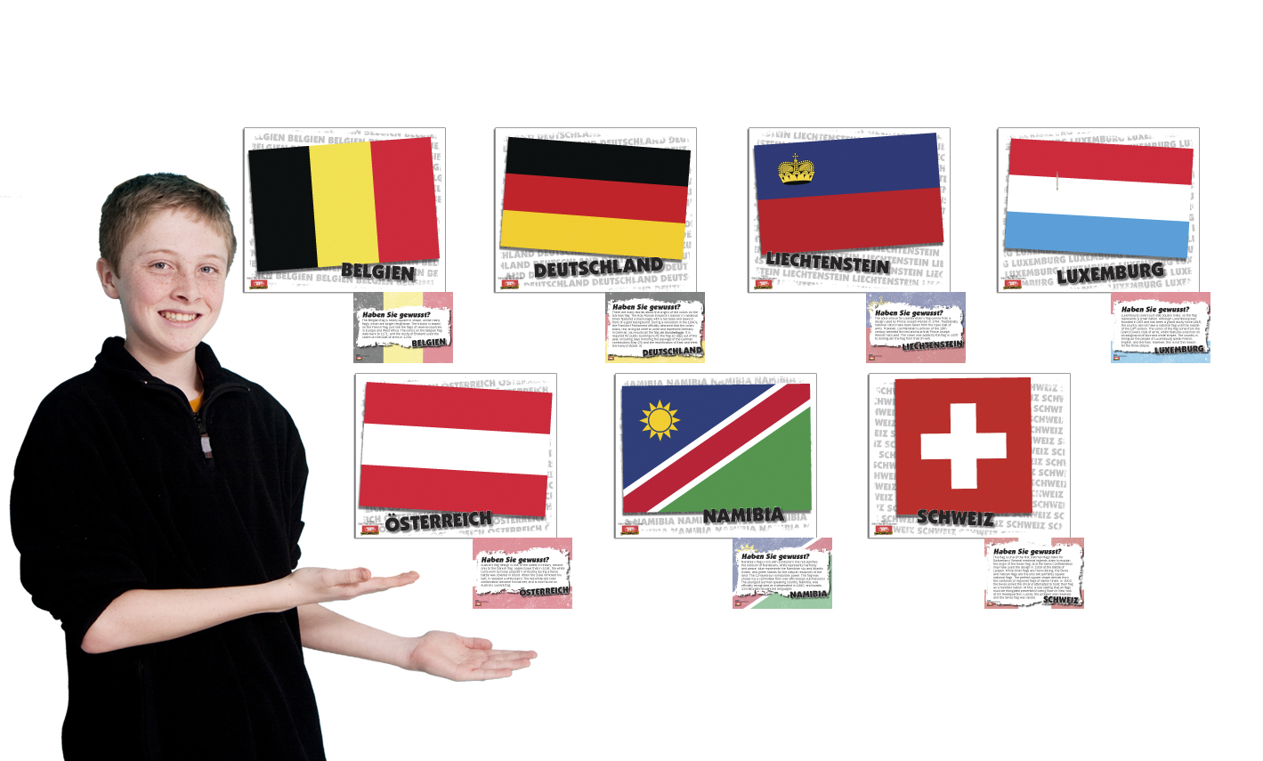 Flags of German Speaking Countries Bulletin Board Set (2015)