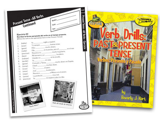 Verb Drills: Past and Present Tense Spanish Book