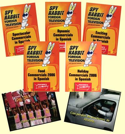Commercials 2006 Set of 5 Spanish Spy Rabbit DVDs