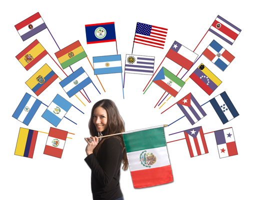 Classroom Sized Flags From Spanish Speaking Countries