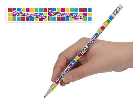 French Happy Birthday Pencil (2013)