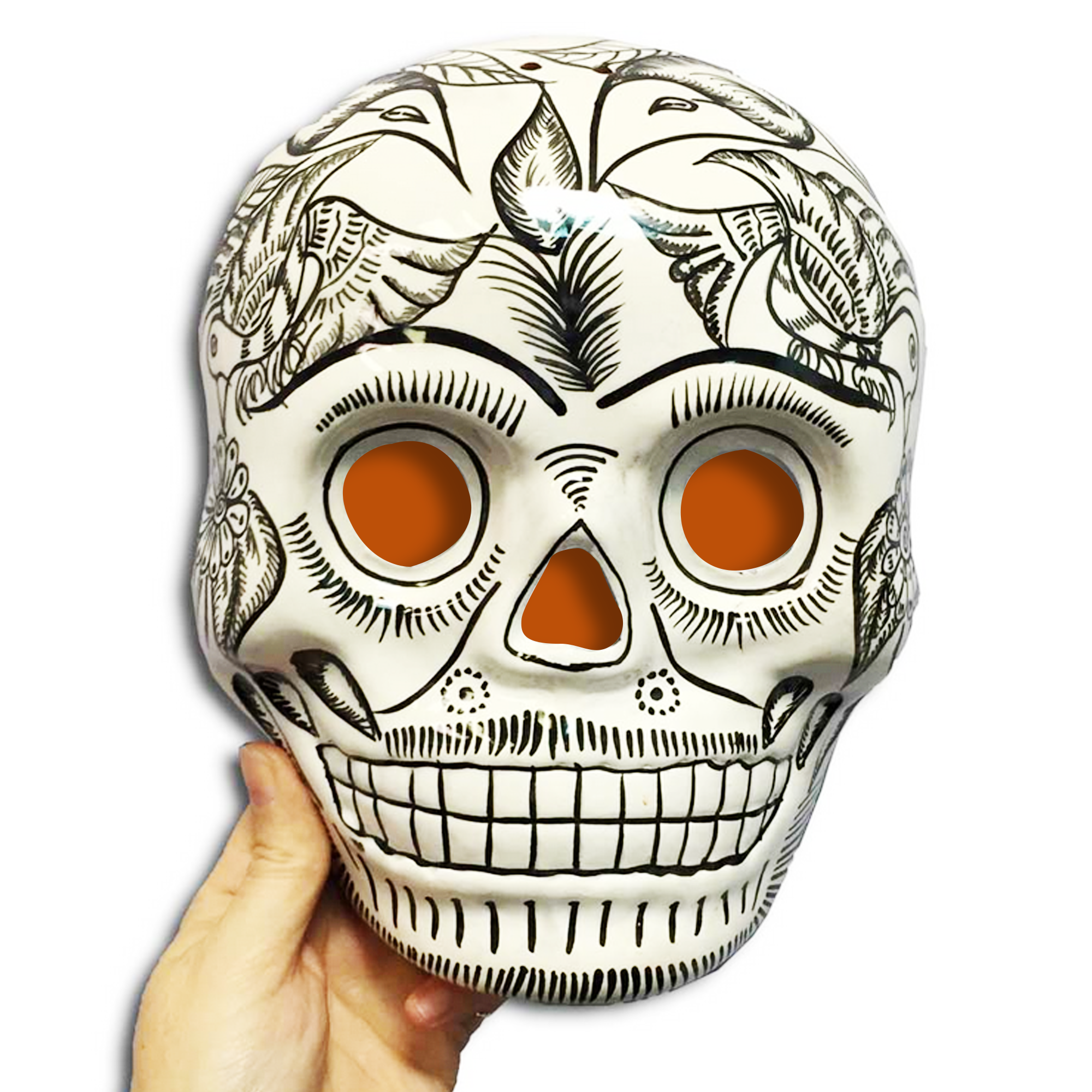Ceramic Skull Mask Wall Hanging Decoration