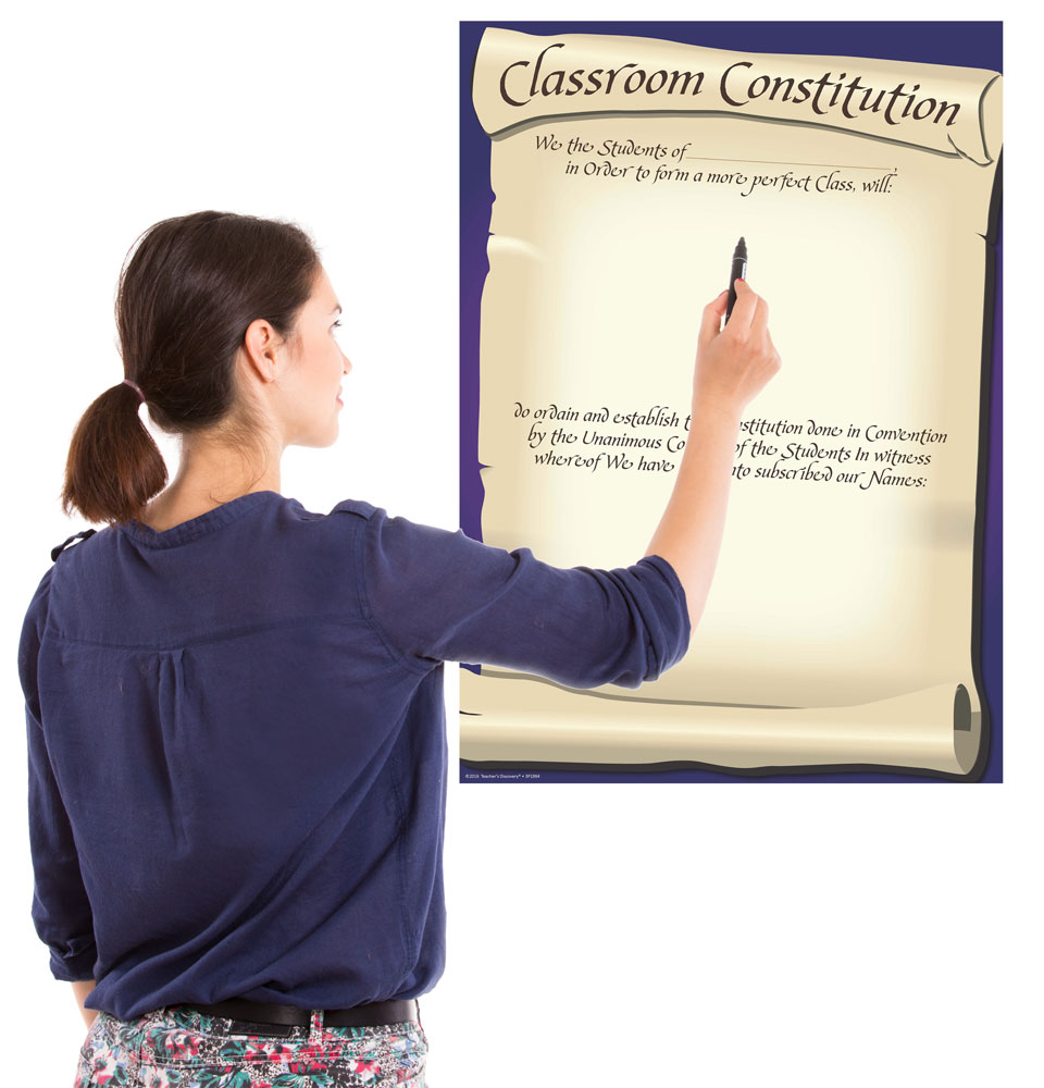 Dry-Erase Class Constitution Poster