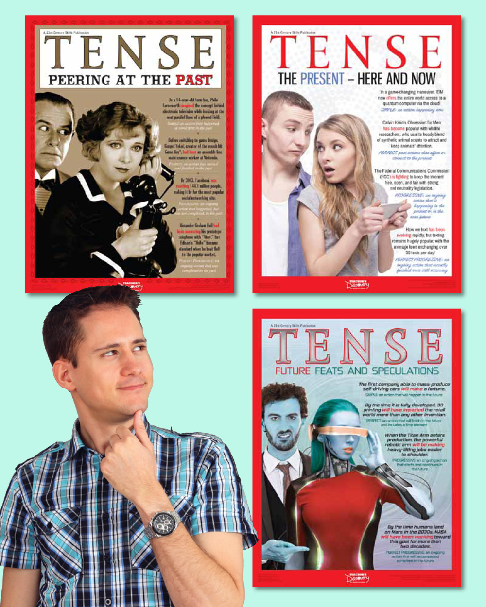 Verb Tense Poster Set of 3 Posters