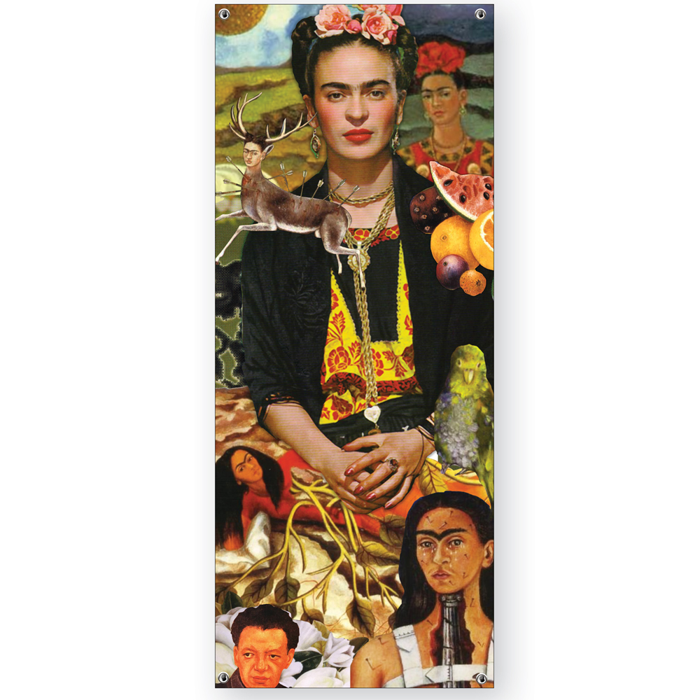 signs banners teacher s discovery frida kahlo vinyl banner