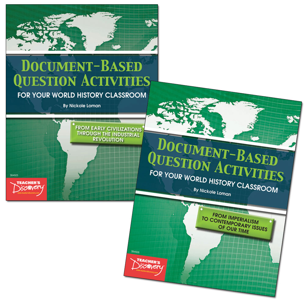 Document-Based Question Activities: World History Set of 2 Books