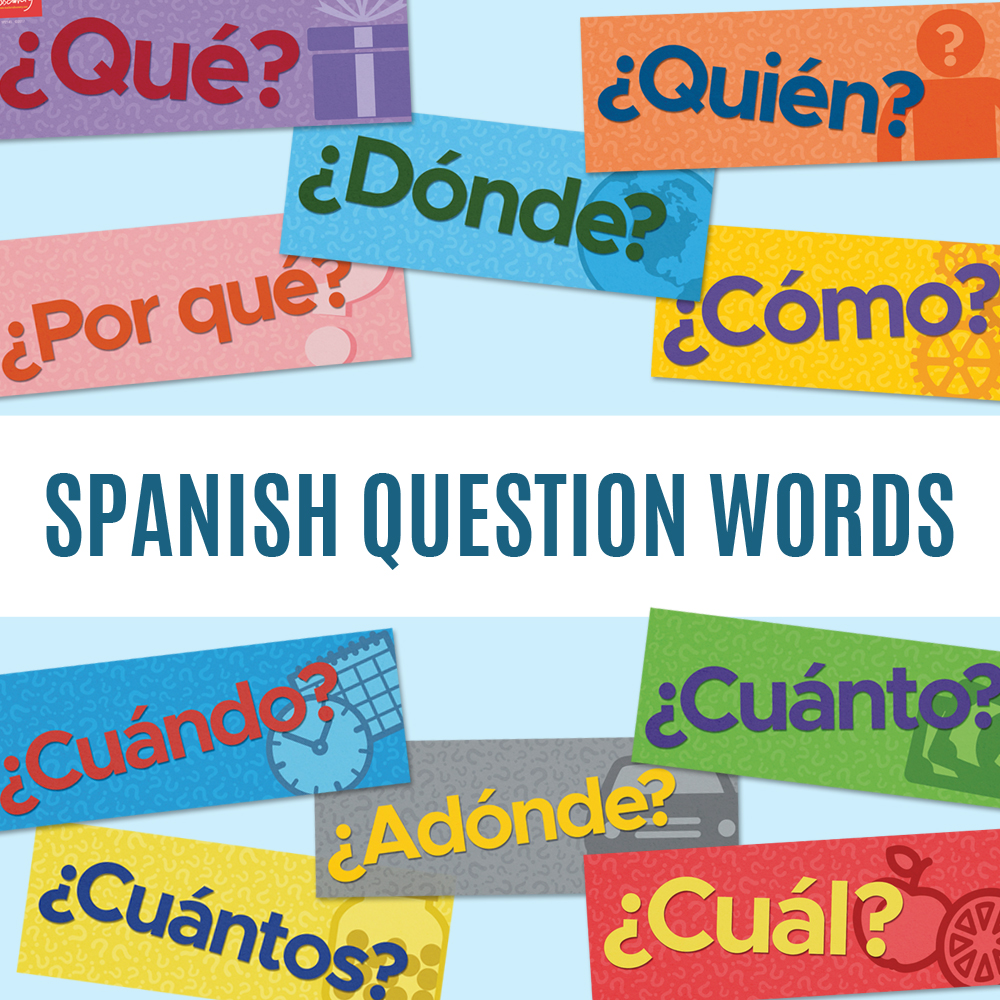 Question Words Spanish Signs (Set of 10)