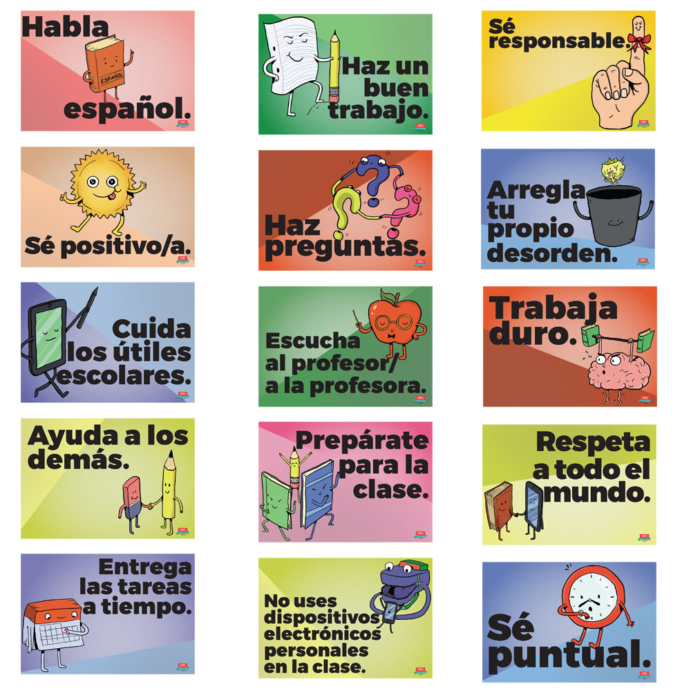 Common Sense Rules Spanish Mini-Poster Set