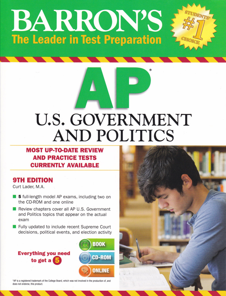 Barron's AP U.S. Government and Politics Book with CD