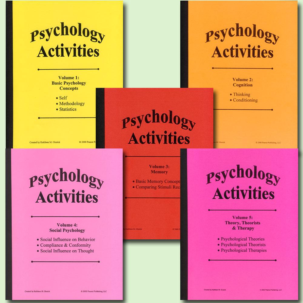 Psychology Activities 5-Volume Book Set (5)