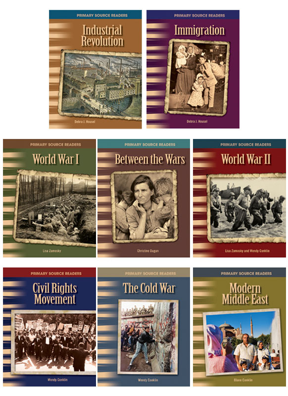 20th Century History Primary Source Readers ~ Set of 8