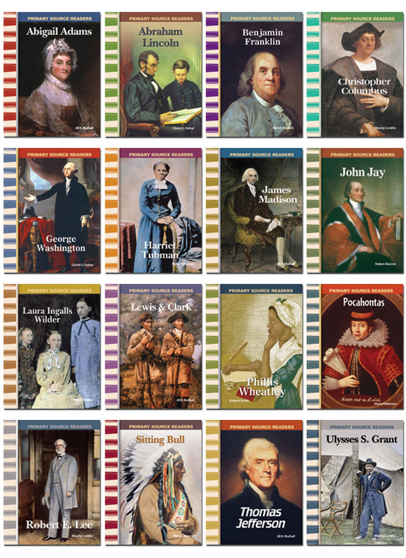 American History Biographies Primary Source Readers ~ Set of 16