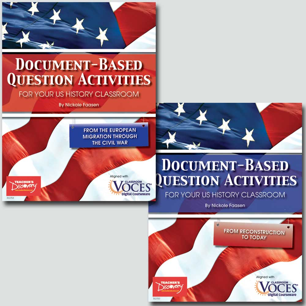 document based question activities from reconstruction to today document based question activities for u s history set of 2 books