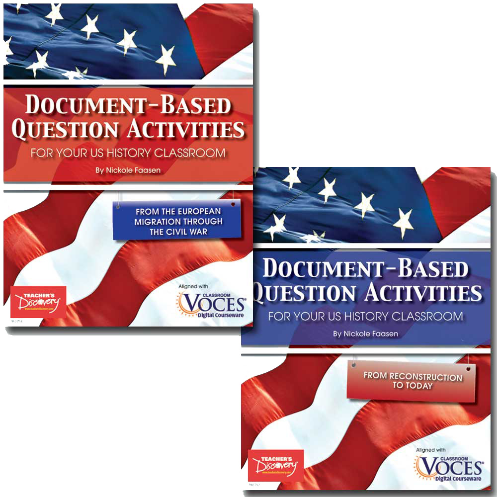 Document-Based Question Activities for U.S. History Set of 2 Books