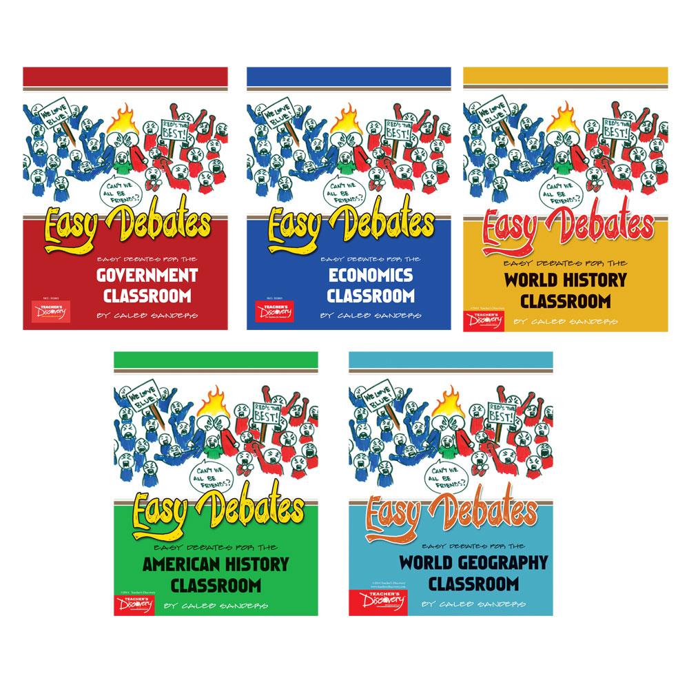 Easy Debates for the Social Studies Classroom Activity Books Set of 5 Books