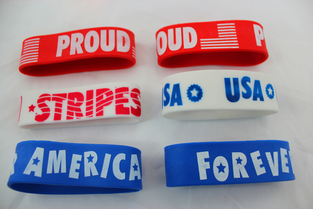 Patriotic Big Band Bracelets Set of 6