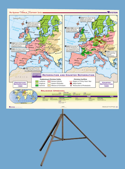 Modern World History 16-map Set On Tripod