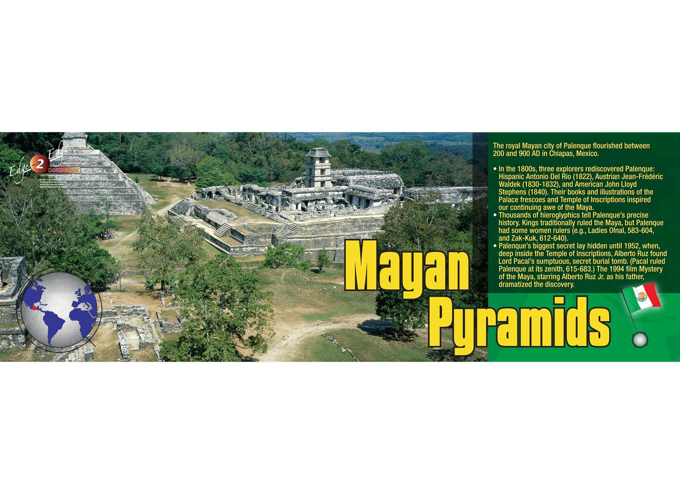 Mayan Pyramids Panoramic Poster