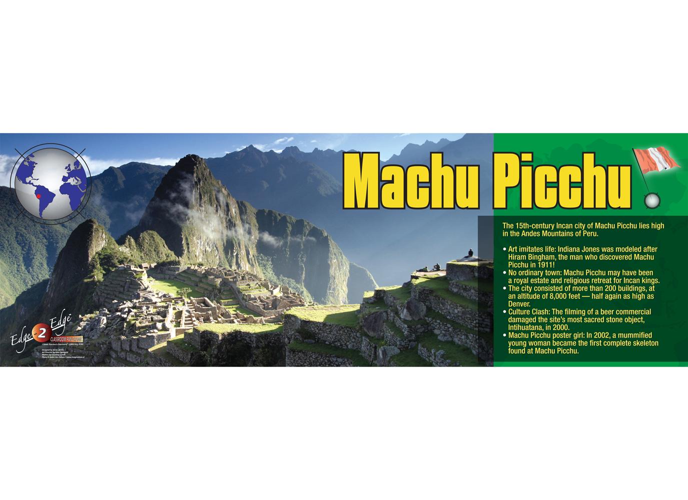 Machu Picchu Panoramic Poster