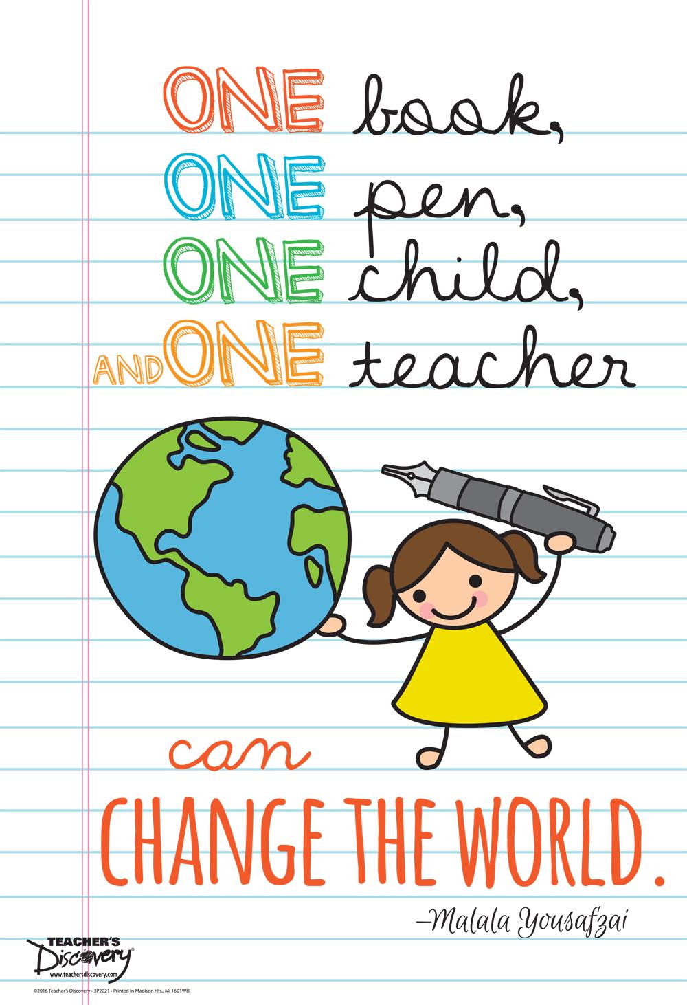 Malala on Education Mini-Poster