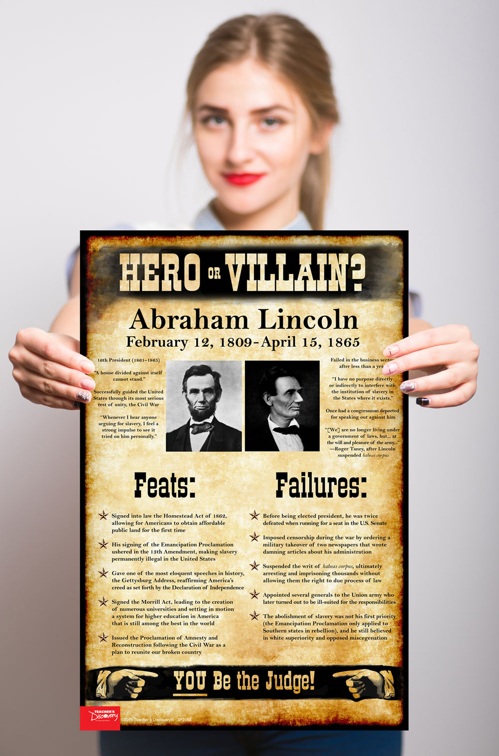 Abraham Lincoln: Hero or Villain? Mini-Poster