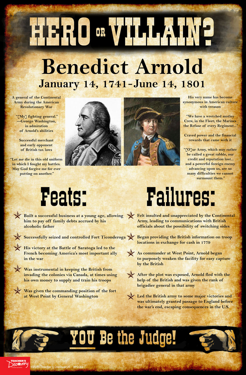 Benedict Arnold: Hero or Villain? Mini-Poster