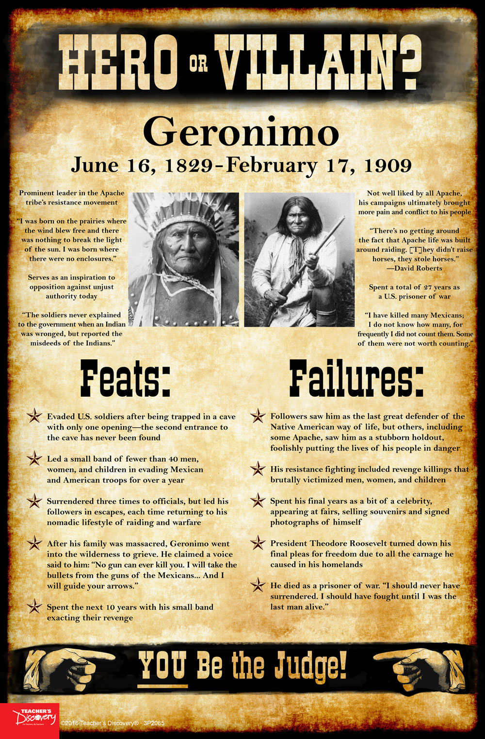Geronimo: Hero or Villain? Mini-Poster
