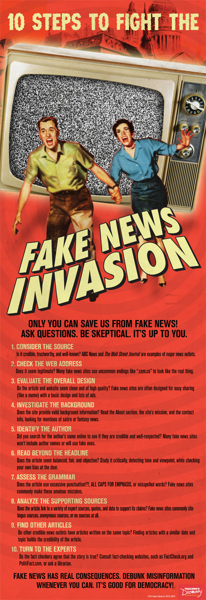 10 Steps to Fight the Fake News Invasion Skinny Poster