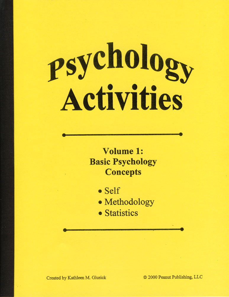 Psychology Activities: Volume 1, Basic Psychology Concepts Book
