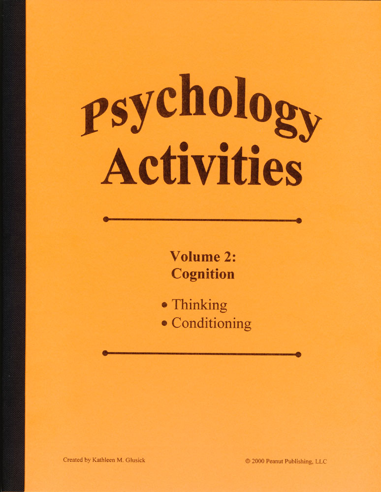 Psychology Activities: Volume 2, Cognition Book