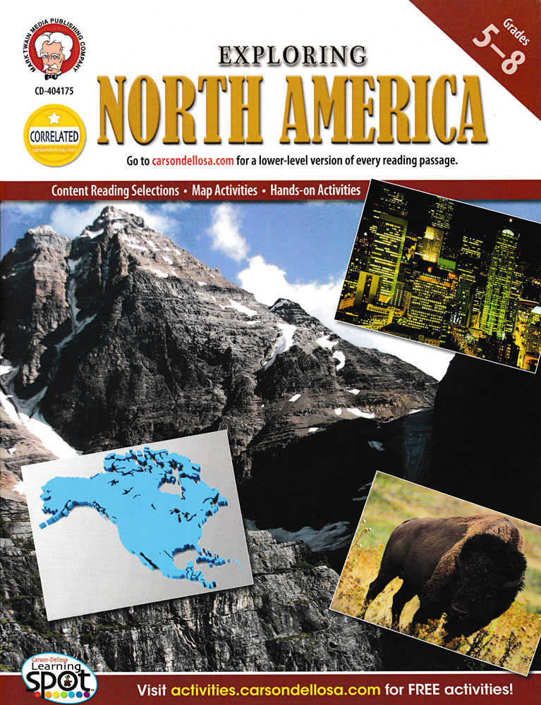 Exploring North America Activity Book