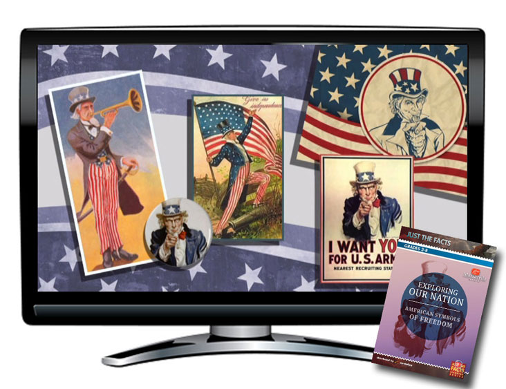 Just the Facts: American Symbols of Freedom DVD and CD
